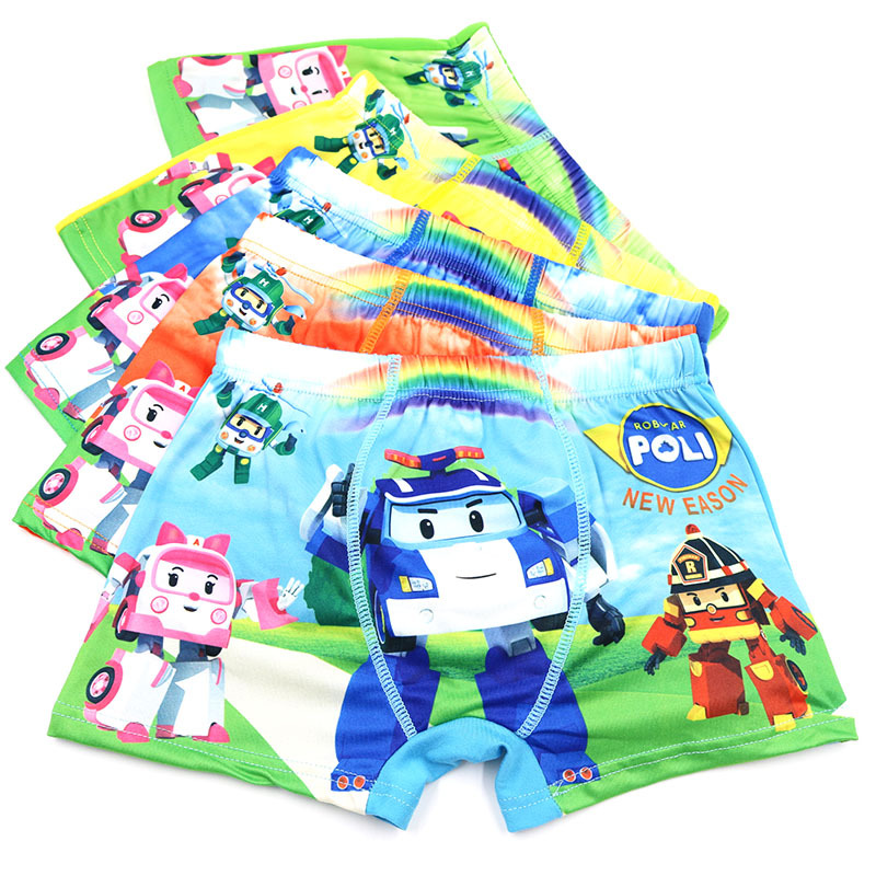 Hot 4T-10T Colorful Fashion Car Kids Boys Underwear Baby Kids  Boxers Bragas Briefs Boys Underware calcinha infantil calcinhas  1