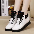 New 2016 Women's Fashion Casual Shoes Platforms Women Gold Shoes Breathable Trainers Sapatos Femininos Classic Shoes black