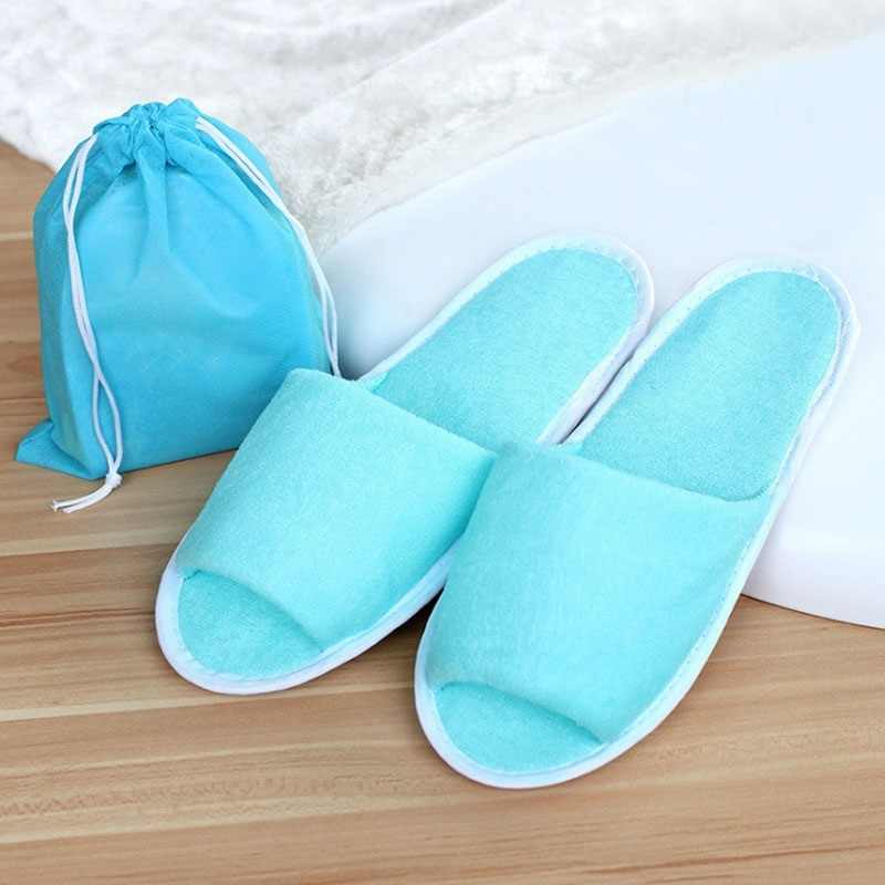 d51765e698e New Simple Slippers Men Women Hotel Travel Spa Portable Folding House  Disposable Home Guest Indoor Slippers
