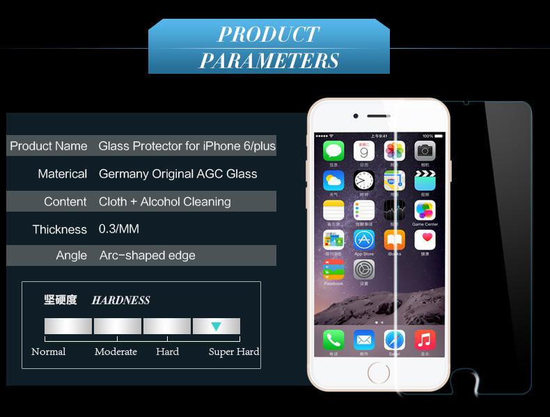 HTB1D.byKXXXXXacXpXXq6xXFXXXo - 9H tempered glass For iphone XR XS X 8 4s 5s 5c SE 6 6s plus 7 plus screen protector protective guard film case cover+clean kits