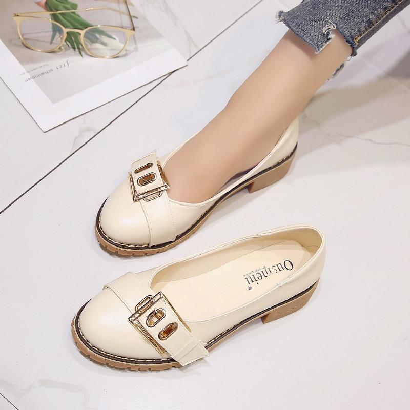 Coréenne Sauvages Printemps Casual Avec Britannique Nouveau Chaussures 2018 La De Harajuku Simples Version Beige Femmes Style SnwqzzP6