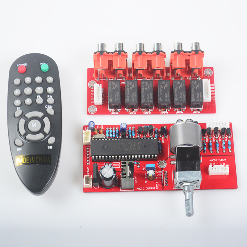 Electronic volume control board With mini remote control Brand new remote control ALPS motor potentiometer Pre-AMPs lite ga 5 4 alps remote volume control 4 ways board combined motor ac9 12v rca input