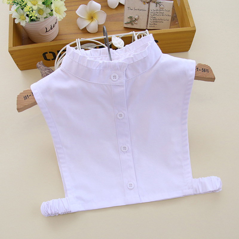 YSMILE Y NEWest Kids Solid Stand Collar Fake Collar White Shirt Blouse Remove Detachable Collar Boys Girls Decoration Collar