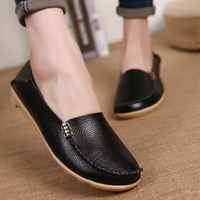 New Fashion Casual Women Flats Shoes Leisure Solid Mother Shoes Breathable Moccasins Loafers Ladies Flats Shoes