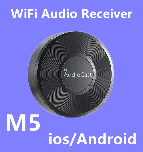 Wireless Sound Streamer Audio Cast M5 Airplay DLNA Music Receiver for iOS&Android 2.4G Airmusic WIFI HiFi Audio Speaker Spotify
