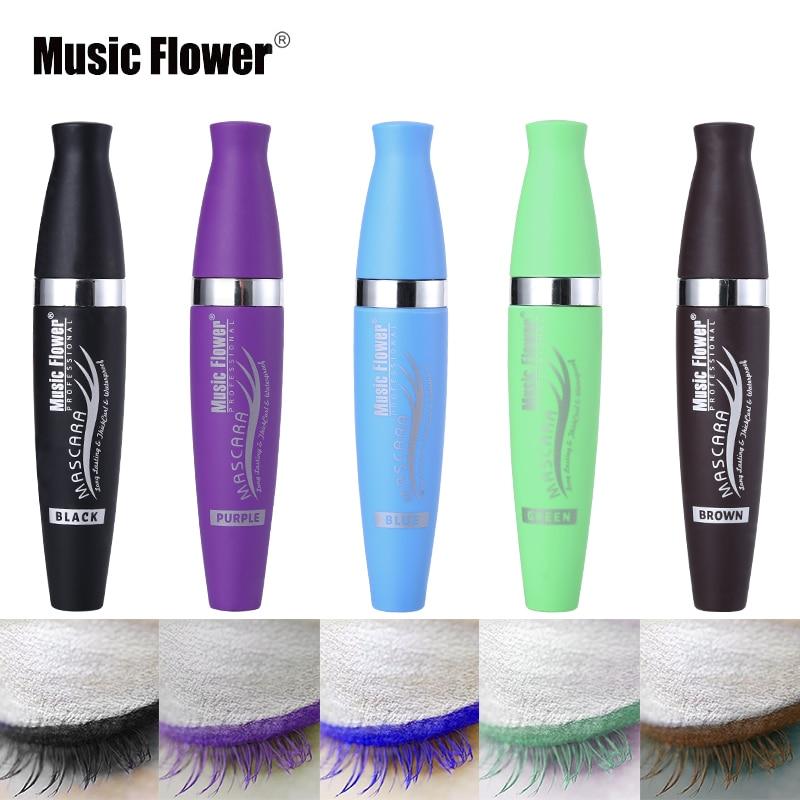 5 Color Professional Brand Music Flower Eye Cosmetics Curling Waterproof Makeup Mascara Long-lasting Thick Eyelashes Lengthening