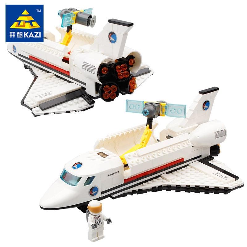KAZI Space series 83003 Endeavour Space Shuttle 285pcs Building Blocks Boys DIY Educational Bricks Toys For Children Gift