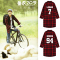 2015 new kpop exobiology shirt Exo wu queer same long-sleeved jacket
