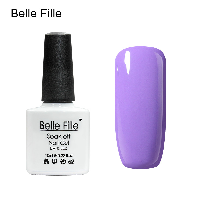 Belle Fille Gel Polish Paars Serie Kleur Coat UV LED Losweken - Nagel kunst - Foto 5