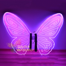 LED Luminous Wings Glowing Women Lady Butterfly Wings Fashion Show Clothing Suits Dance Dress Accessories Wedding Customizable