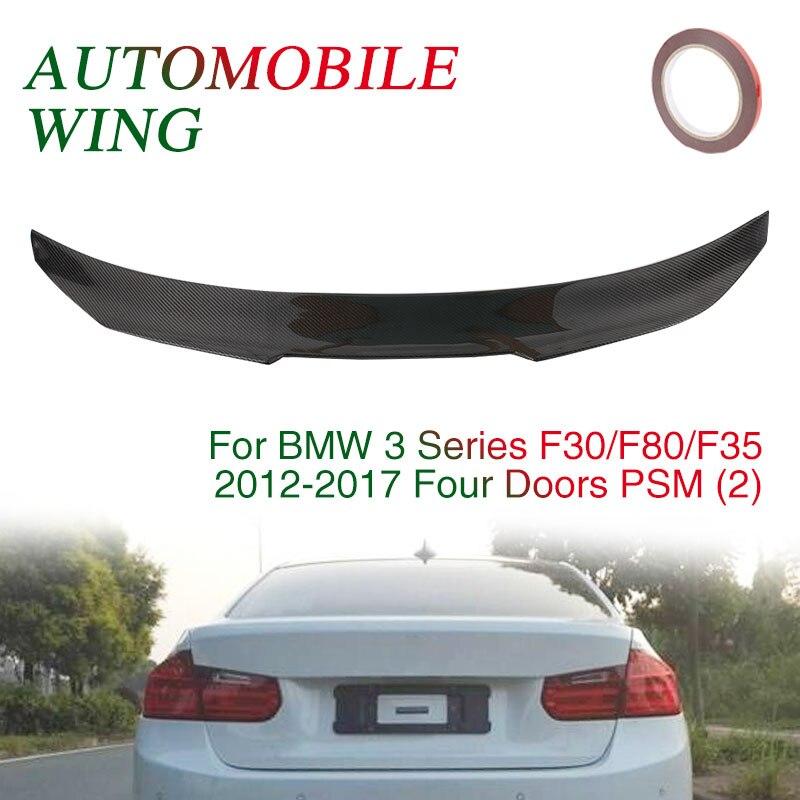 Автомобильный спойлер 123*13,5*4 см 4D крыло спойлера декор отделка ствол заднее крыло черный украшение автомобиля для BMW F30/F35/F80 седан