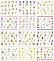 Nail 12 Hojas/Lot Adhesivo Para Uñas YB337-348 Sailor Moon Cartoon Girl Nail Art Water Sticker Decal para el Arte Del Clavo (12 DISEÑOS EN 1