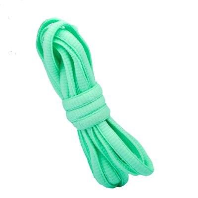 """100 см/3"""" овальные плоские шнурки Шнурки кроссовок 24 цветов для выбора - Цвет: No 22 apple green"""