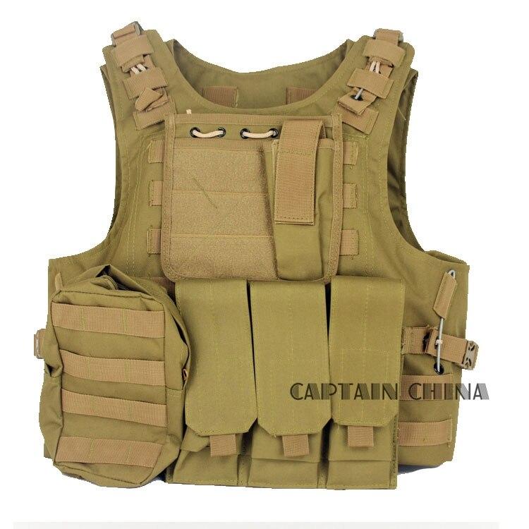 Tactical vest Nylon Durable USMC Airsoft Tactical Military Molle Combat Assault Tactical Vest 011604 tmc transformers cqb lbv molle vest military airsoft paintball combat assault cs field protection vest free shipping