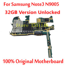 For Samsung Note3 N9005 Mainboard 32GB version unlocked 100% Original Official Motherboard With Chips logic board
