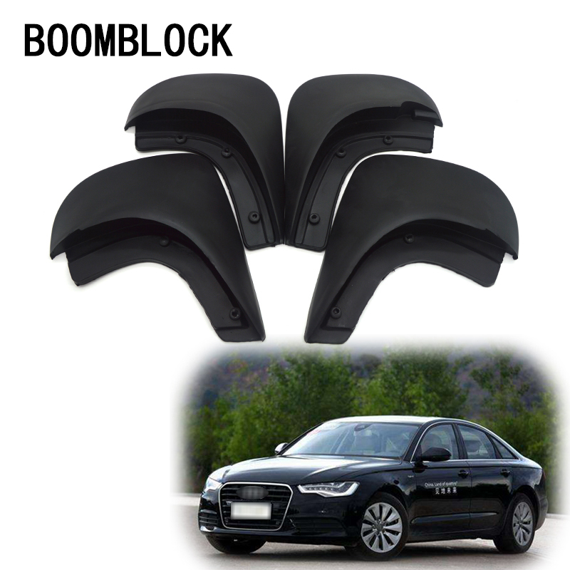 BOOMBLOCK 1Set Car Front Rear Mudguards For <font><b>Audi</b></font> <font><b>A6</b></font> <font><b>C5</b></font> 1998 <font><b>1999</b></font> 2000 2001 2002 2003 2004 2005 accessories Mudflaps Fenders image