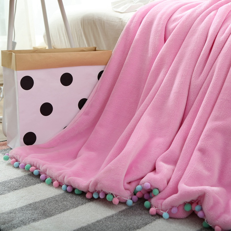Cute Pink Double Blanket for Girls Kids Children Travel Blanket Brand Full Queen Adult Bed Cover Blanket Soft Sofa Throw Blanket simple modern vertical stripes wall paper home decor roll 3d non woven wallpaper living room bedroom tv background wall covering