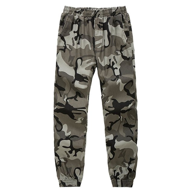 Jampelle Military Men Long Pants Streetwear Hip Hop Cargo Sweatpants Camouflage Loose