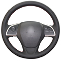 Black Artificial Leather Car Steering Wheel Cover for Mitsubishi Outlander 2013 2014 Mirage 2014 ASX L200 2015 2016