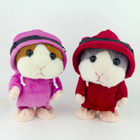 Talking Hamster Mouse Pet Plush Toy Speak Talking Sound Record Plush Educational Stuffed Toys For Children
