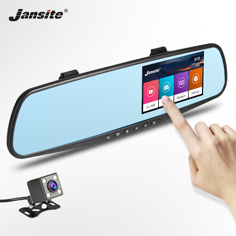 Jansite Car DVR Dashcam Dual Lens Touch Screen Car font b Camera b font Video Recorder