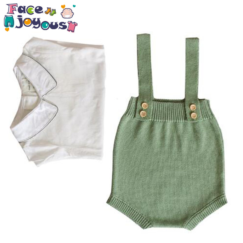New Autumn Baby Knitted   Rompers   Overalls Newborn Baby Boys Girls Clothes Infantil Baby Sleeveless   Romper   Jumpsuit Girls   Romper