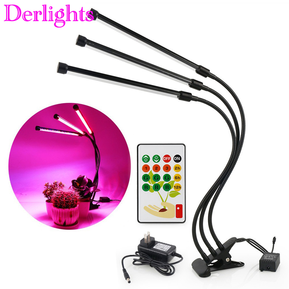 Smart LED Grow Light With <font><b>Remote</b></font> Control Full Spectrum Desk <font><b>Holder</b></font> Clip Growing Lamp For Indoor Plant Greenhouse Hydroponics image