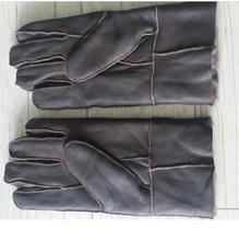 Man Autumn Sheepskin Fur Thicken Gloves Male Winter Warm Gloves Men Leather Wool Gloves