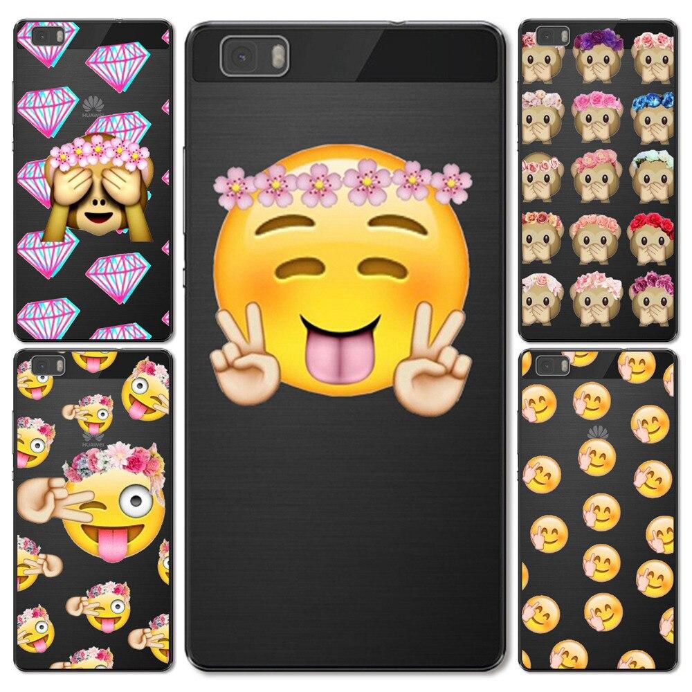 Телефон чехлы для Huawei P8 Lite мягкая силиконовая Прозрачная крышка ТПУ Facebook смайлики обезьяна Капа Coque Fundas В виде ракушки для Huawei p9 Lite