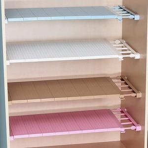 Image 1 - Armario Ropero Organizador de armario ajustable estante de almacenamiento montado en la pared estante de cocina armario de ahorro de espacio estantes decorativos soporte de gabinete