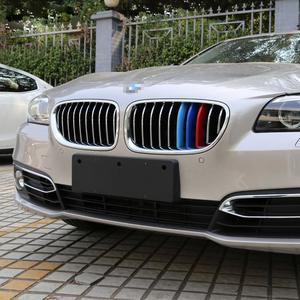 Красивые 3D M Автоспорт передняя решетка полоски для BMW 5 серии F10 F11 седан Touring 520i 525i 528i 530i 535i производительность наклейки