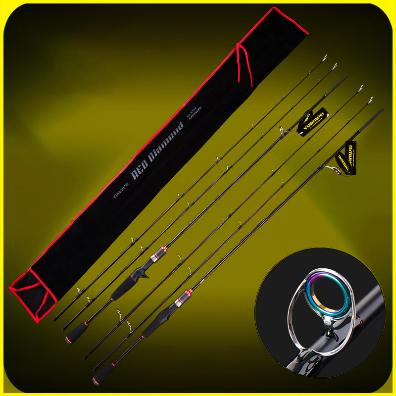 YUANWEI Spinning / Casting Fishing Rod 2 Tip 1.8m 2.1m ML/M 99% Carbon Lure Rods Vara De Pesca Olta Canne A Peche A052 2 secs wood handle spinning fishing rod 1 98m 2 1m 2 4m power ml m mh carbon lure rods vara de pesca peche stick fishingtackle