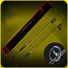 YUANWEI Spinning / Casting Fishing Rod 2 Tip 1.8m 2.1m ML/M 99% Carbon Lure Rods Vara De Pesca Olta Canne A Peche A052 цены