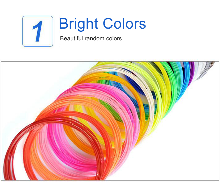 1.75MM PLA Filament Materials For 3D Printing Pen Threads Plastic Printer Consumables DIY Gifts toys for Kids GYH 13