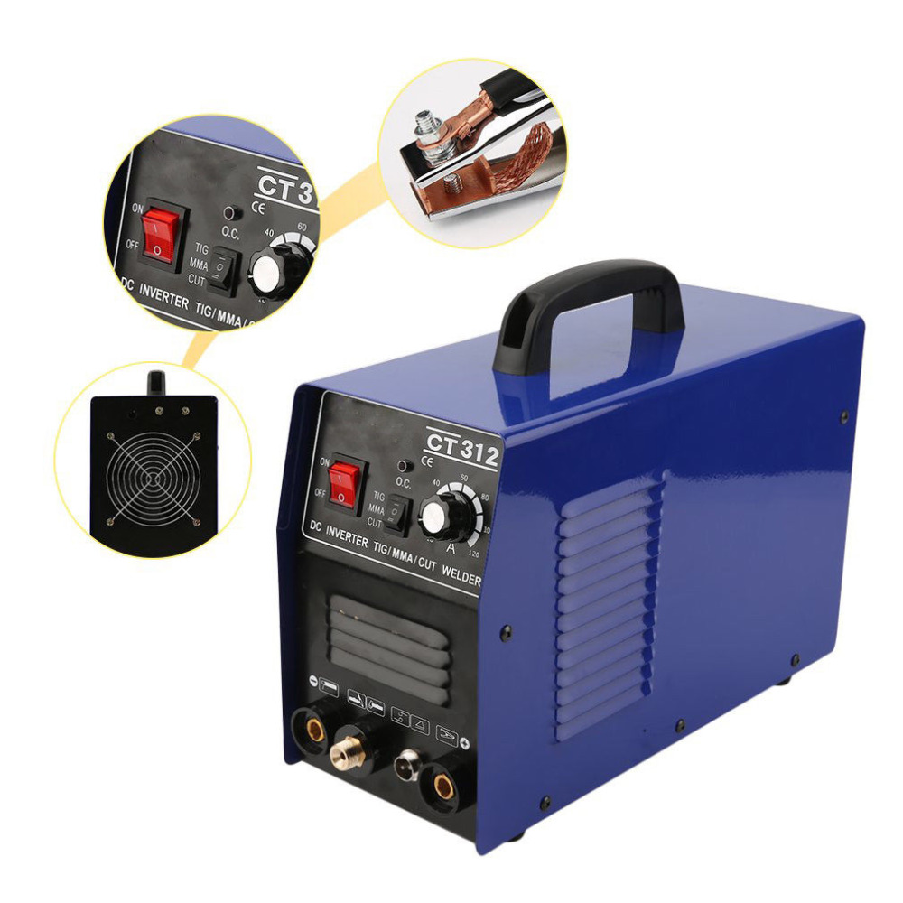 Tosense 110/220V Dual Voltage 3 In 1 Multifunction Welding Machine TIG ARC Welder Plasma Cutting CT312 With Free Accessory