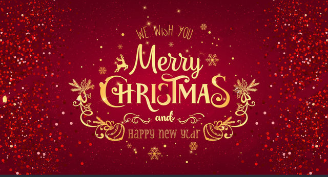 christmas new year typographical red gold glitter texture backgrounds vinyl cloth computer print party backdrops