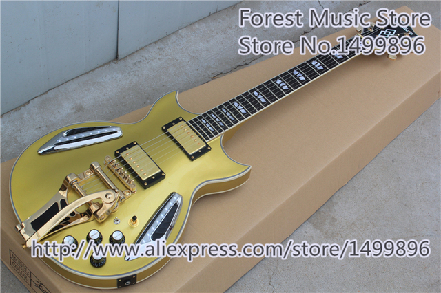 Cheap Custom Shop LED Light Goldtop Finish Jazz Guitar As Picture Custom As You Want