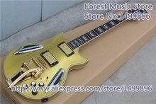Custom Shop LED-Licht Goldtop Finish Jazz E-gitarre Als Bild Benutzerdefinierte Wie Sie Wollen