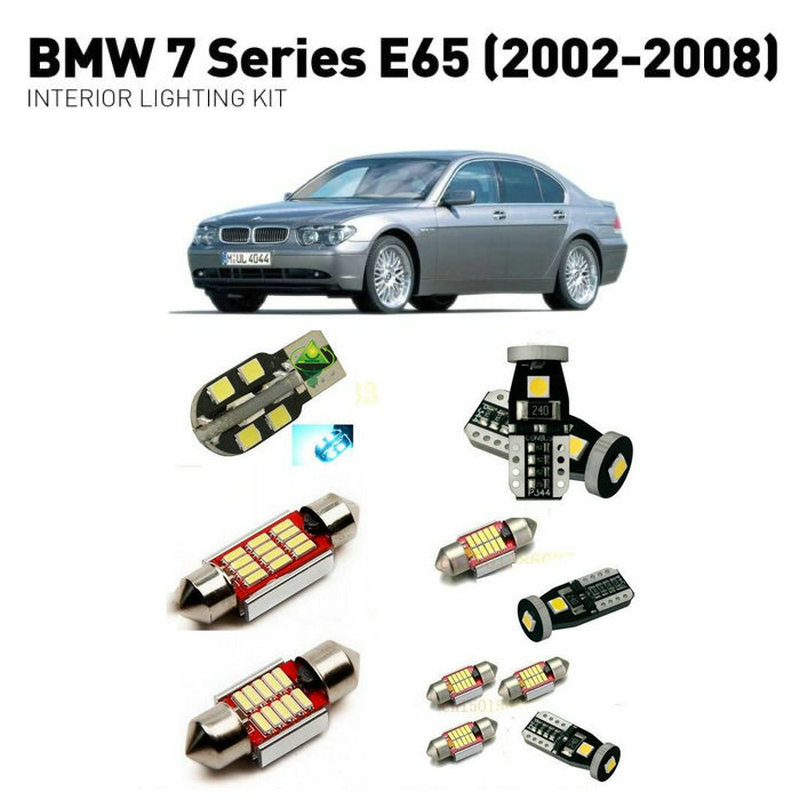 Led interior lights For BMW 7 series e65 2002 2008 21pc Led Lights For Cars lighting kit automotive bulbs Canbus Error Free in Signal Lamp from Automobiles Motorcycles
