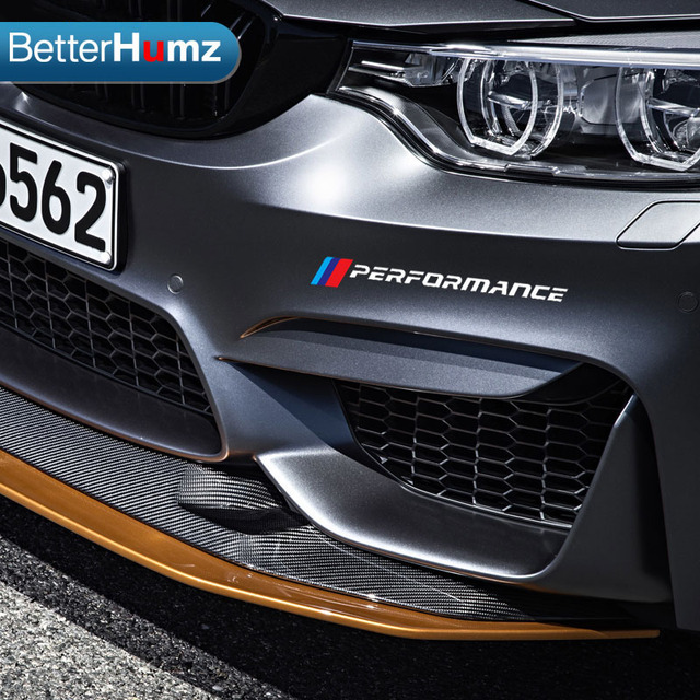2pc car styling front bumper decals car stickers for bmw e90 e46 e39 e60 f30 f34