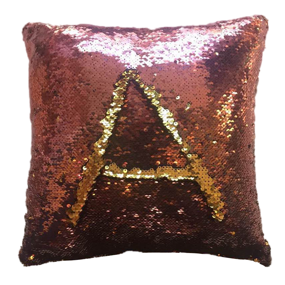 1PC Pillow case Two-sided Double Color Glitter Sequins Throw Pillow Cases Cafe Home Decor Cushion PillowCase Home Office Car