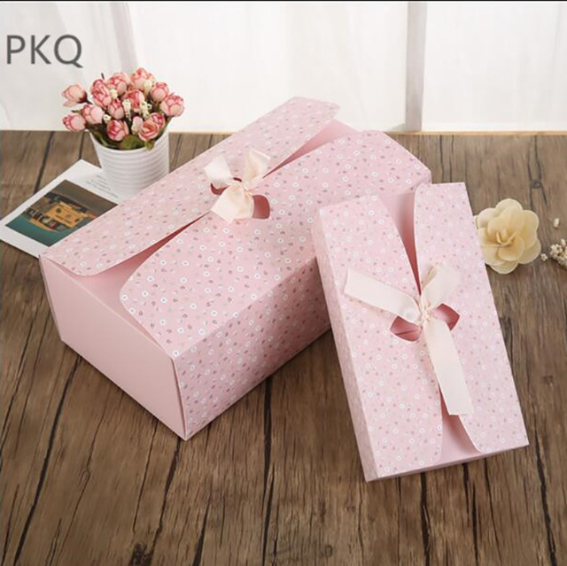 10pcs Lot Pink Flower Paper Boxes Party Gift Ideas Boxes Wedding