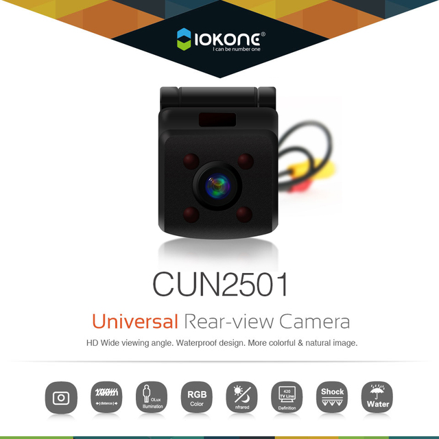 Free shipping Night version Waterproof HD Video Auto Parking Monitor, CCD Car Rear Camera for all Universal cars Backup Camera