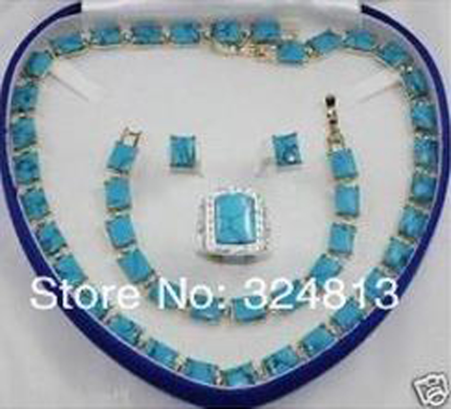 NEW bridal Woman's Jewellery necklace bracelet ring earring set Ladies AA265 new tiger eye stone necklace bracelet earring ring 7 9 set no box aa265