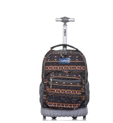 School Rolling bags for teenagers kids 18 inch Wheeled backpack School trolley bag for girls Travel Trolley backpack On wheels