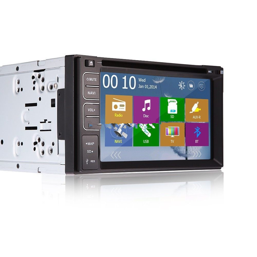 Universal 6.2 Touch Screen Car DVD Player 2 Din Car Radio Stereo with FM/AM USB/SD Bluetooth TV Without GPS