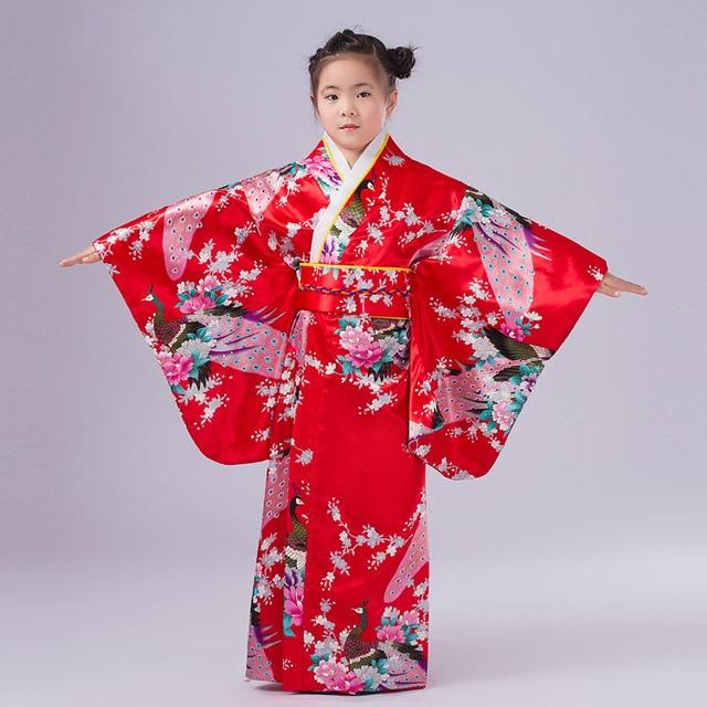 a749a6c55ad22 2019 nuevo niño novedad Cosplay Floaral vestido japonés bebé niña vestido  Kimono vestido niños Vintage Yukata