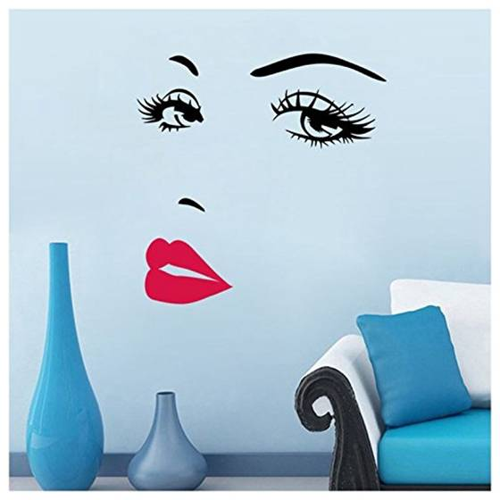 Online Shop Women s Face Star Decor Nice Removable Wall Stickers Home Wall  Art Bedroom Decor Living Room sticker  efc370f1b0