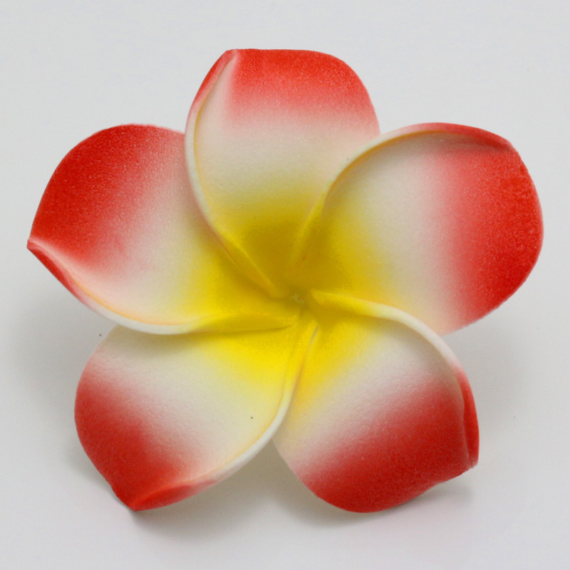 New 100pcs 9 color 6cm plumeria hawaiian foam frangipani flower new 100pcs 9 color 6cm plumeria hawaiian foam frangipani flower artificial silk fake egg flower for wedding party decoration in artificial dried flowers mightylinksfo