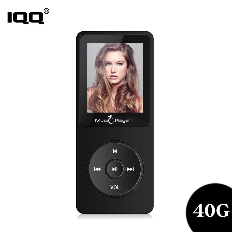 Iqq nova versão ultrafinos mp3 player x02 embutido 40g e alto-falantes podem jogar 80 h walkman portátil sem perdas com rádio/fm/registro